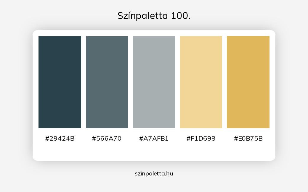 Színpaletta 100. - szinpaletta.hu
