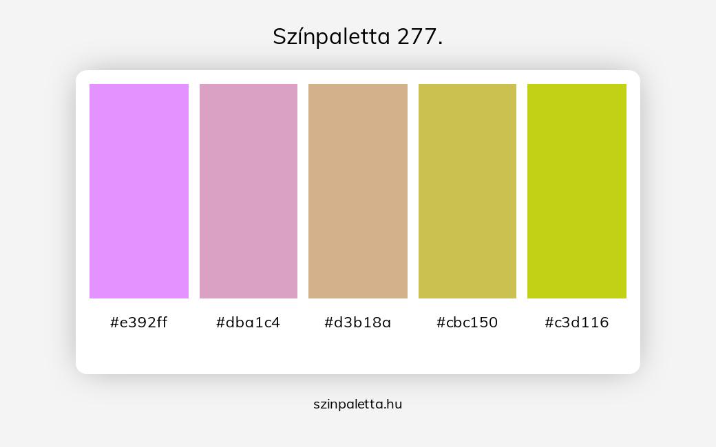 Színpaletta 277. - szinpaletta.hu