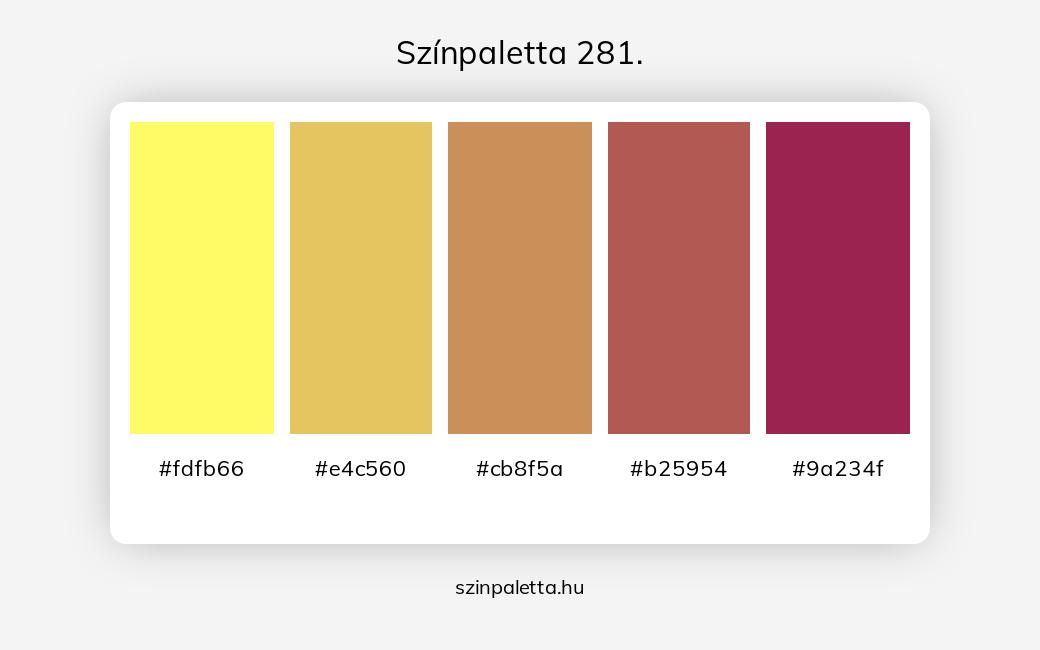 Színpaletta 281. - szinpaletta.hu
