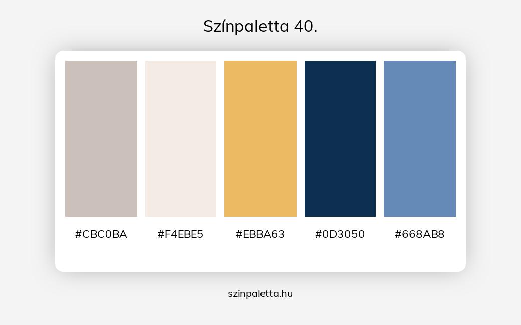 Színpaletta 40. - szinpaletta.hu