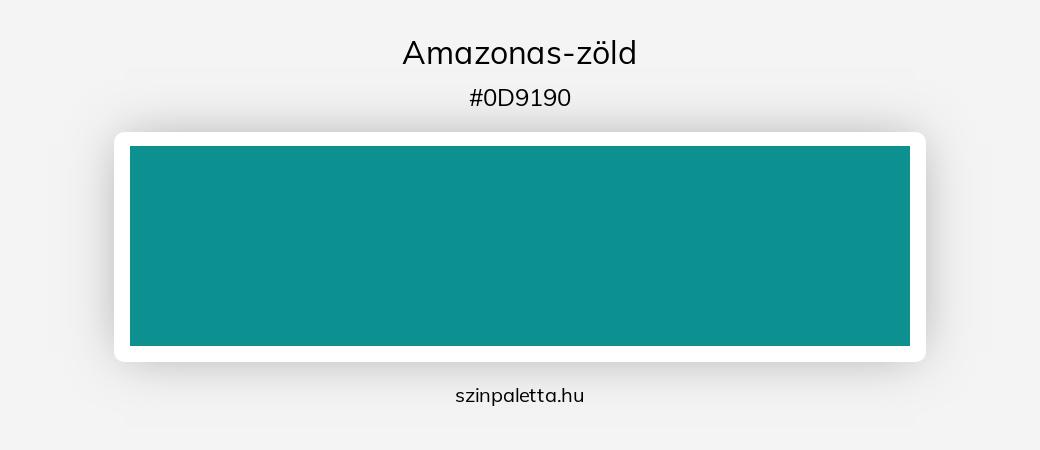 Amazonas-zöld - szinpaletta.hu