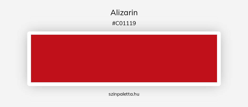 Alizarin - szinpaletta.hu