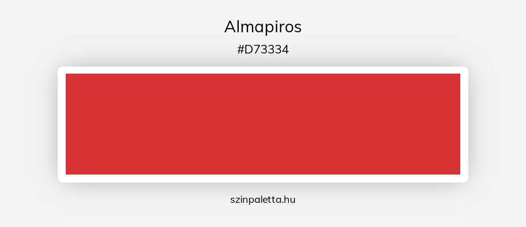 Almapiros - szinpaletta.hu