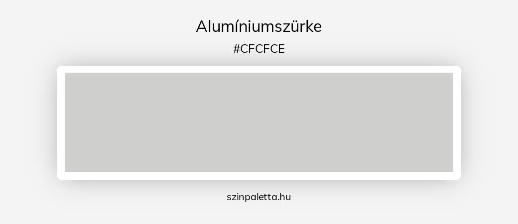 Alumíniumszürke - szinpaletta.hu