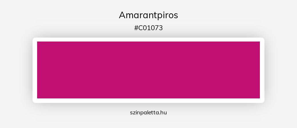 Amarantpiros - szinpaletta.hu