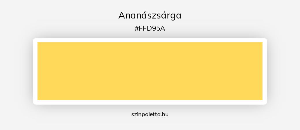 Ananászsárga - szinpaletta.hu