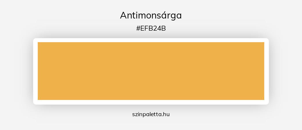 Antimonsárga - szinpaletta.hu