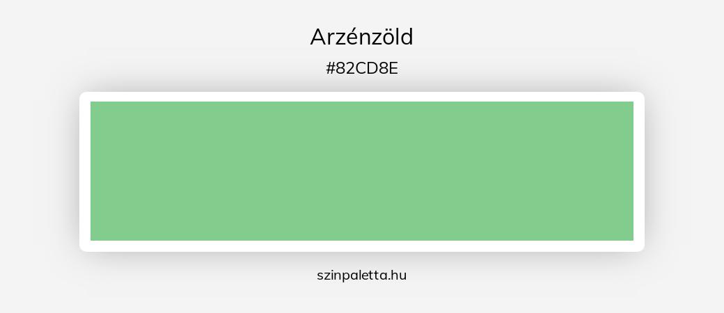 Arzénzöld - szinpaletta.hu