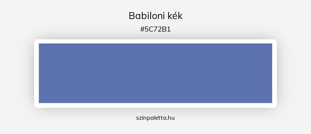 Babiloni kék - szinpaletta.hu