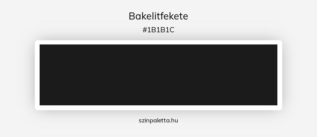 Bakelitfekete - szinpaletta.hu